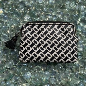 DVF keychain wallet. Two interior card slots.